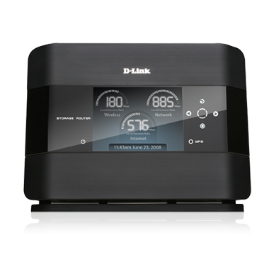 DLINK DIR-685 * NO HDD * COLOUR LCD WL N STORAGE NAS ROUTER