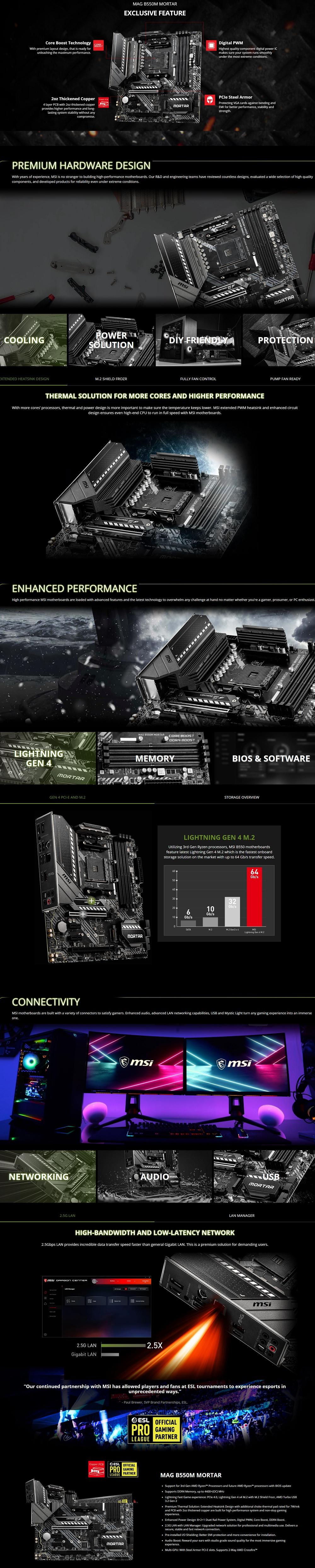 MSI MAG B550M MORTAR AM4 mATX motherboard 6