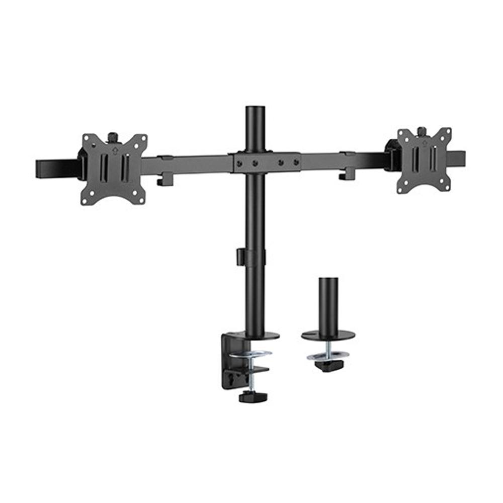 Brateck Pole Mount Dual-Screen Monitor Mount Fit Most 17'-32' Monitors, Up to 9kg per screen VESA 75x75/100x100