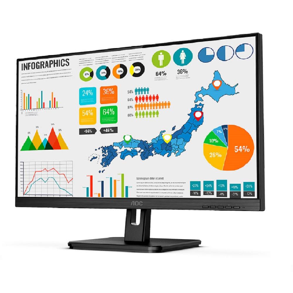 "AOC 24E2QA 23.8"" Business IPS monitor 75Hz VGA HDMI DP SPK"