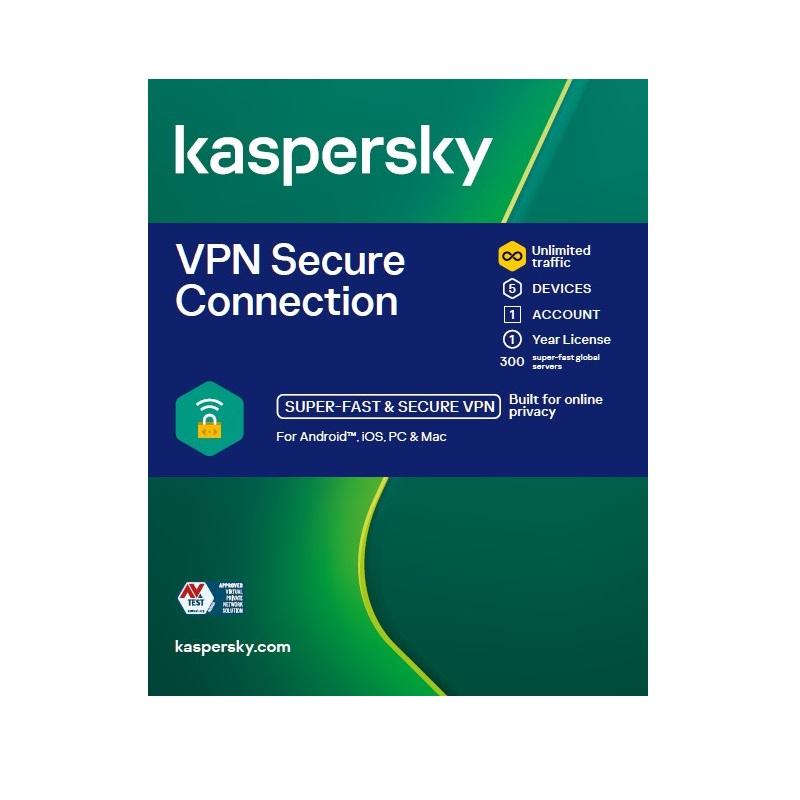 Kaspersky VPN Secure Connection 5 Devices 1 year KL1987ECEFS