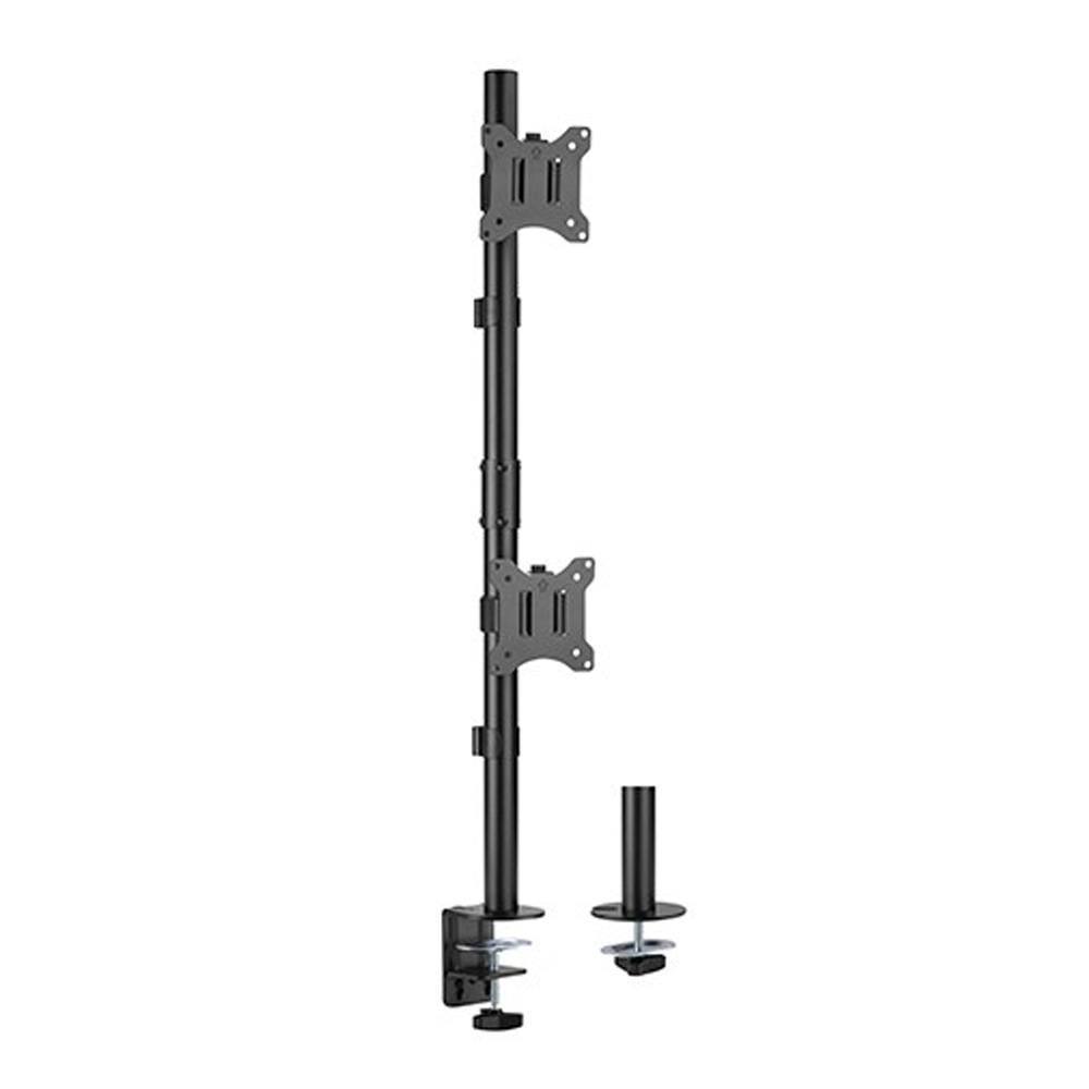 Brateck Vertical Pole Mount Dual-Screen Monitor Mount Fit Most 17'-32' Monitors, Up to 9kg per screen VESA 75x75/100x100