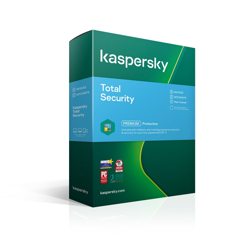 KL1949ECEFS Kaspersky Total Security 5 Device 1 Year