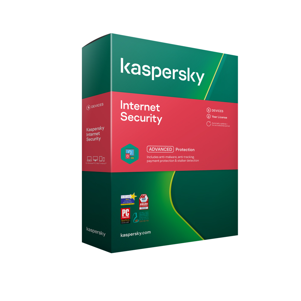 Kaspersky Internet Security 2021 5 Devices 2 Yrs Email