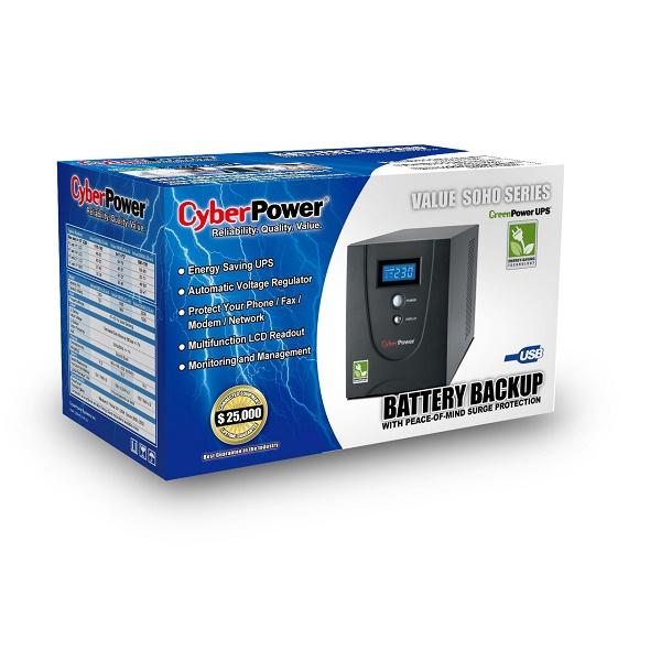 CYBERPOWER VALUE 1200ELCD 1200VA  Line Interactive UPS