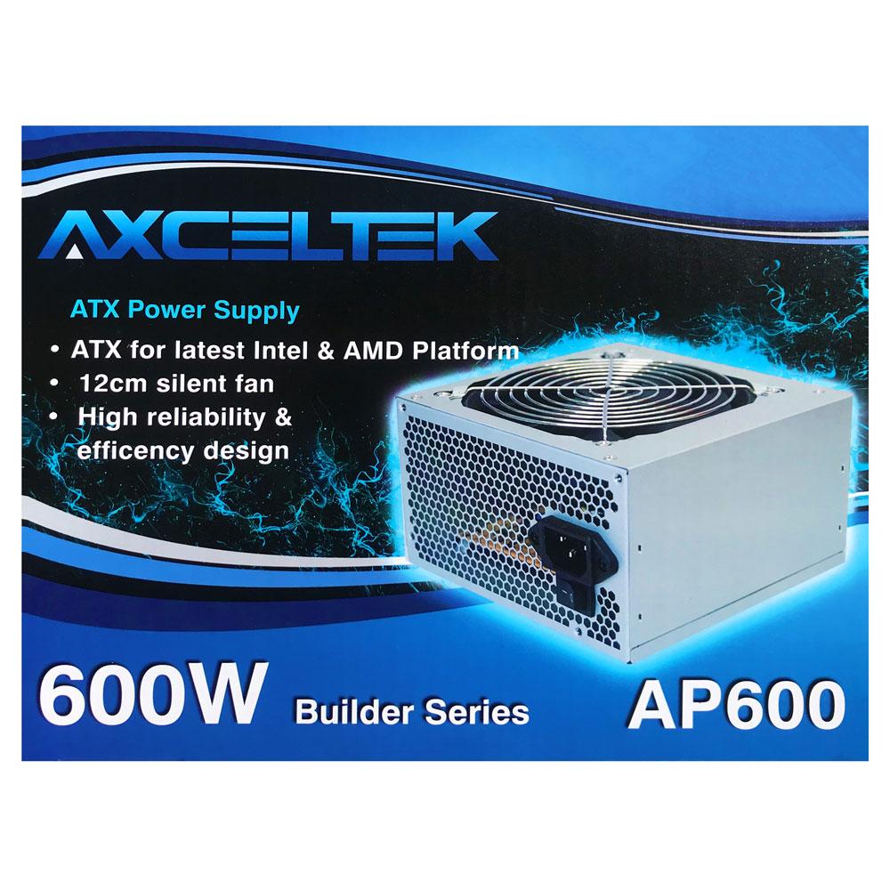 Axceltek AP600B 600W ATX power supply 12cm fan