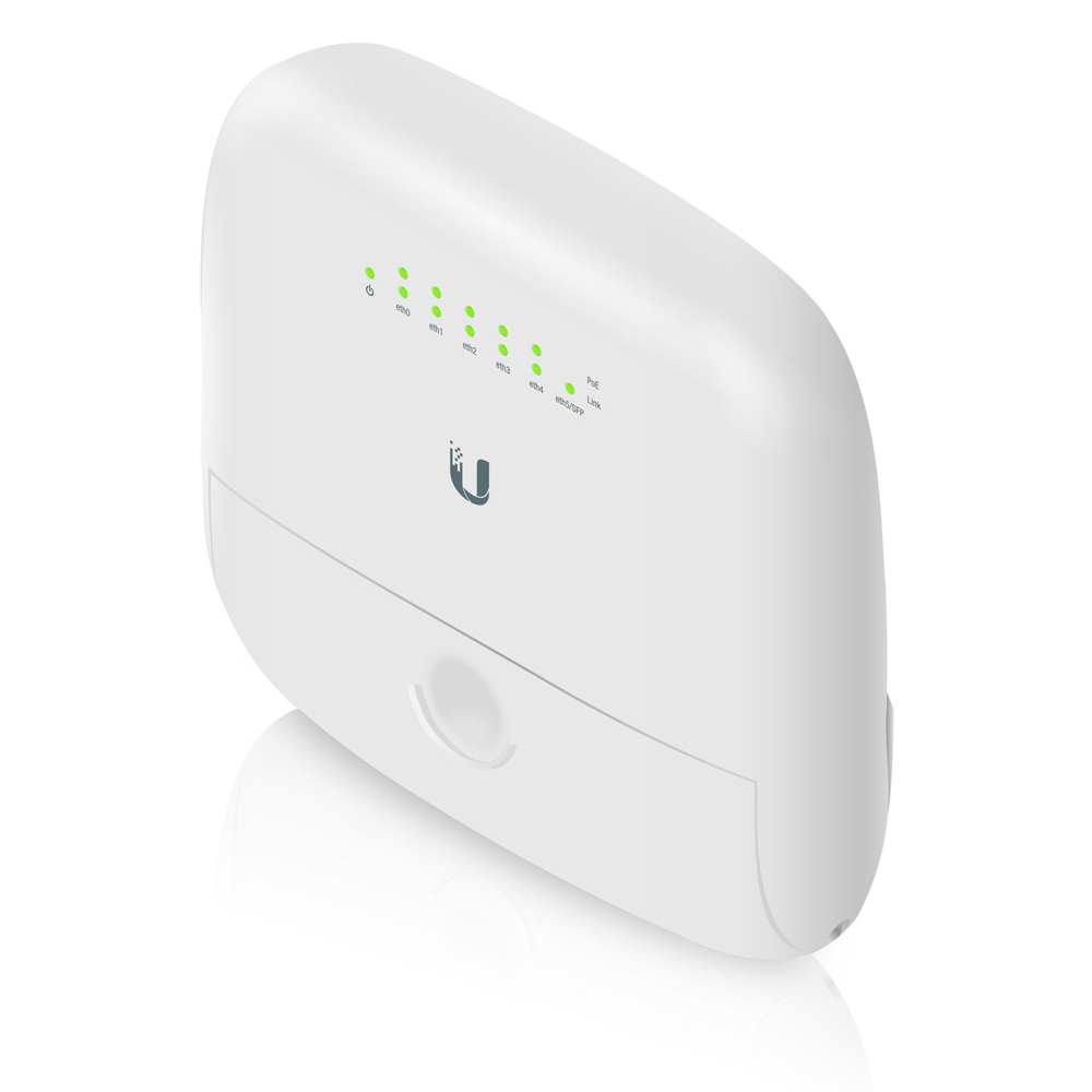 Ubiquiti EdgePoint Outdoor PoE Router/Switch, 24v Passve PoE Out, 5x Gigabit Ethernet, 1x SFP - Powerful Outdoor Router / Switch