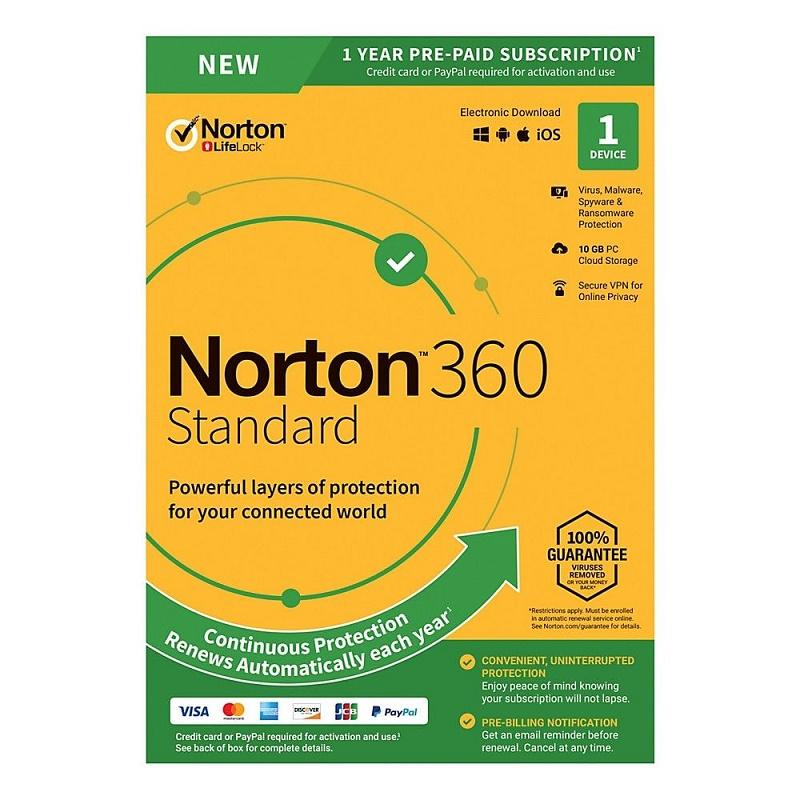 Norton 360 Standard 1 Device (PC/Mac) 1 Year OEM