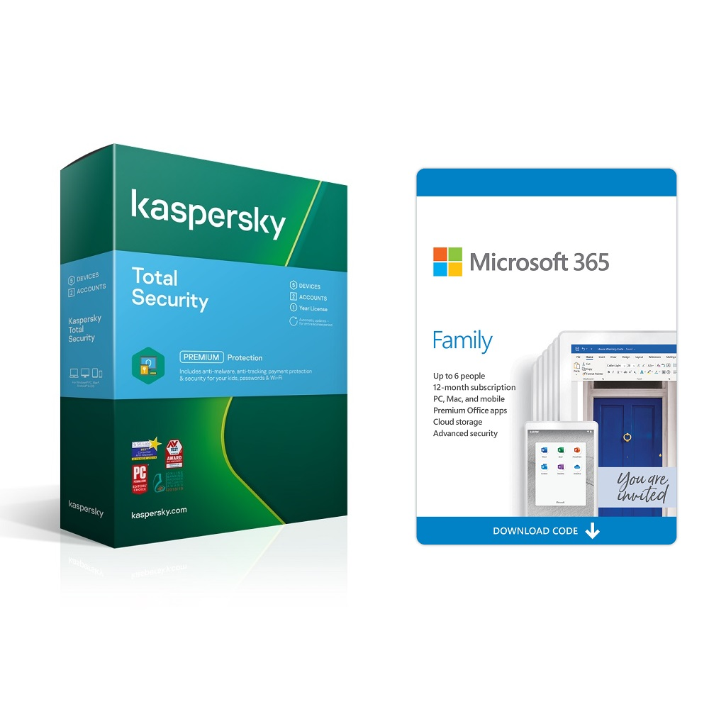 Microsoft Office 365 Family + Kaspersky Total Security 3D 1y