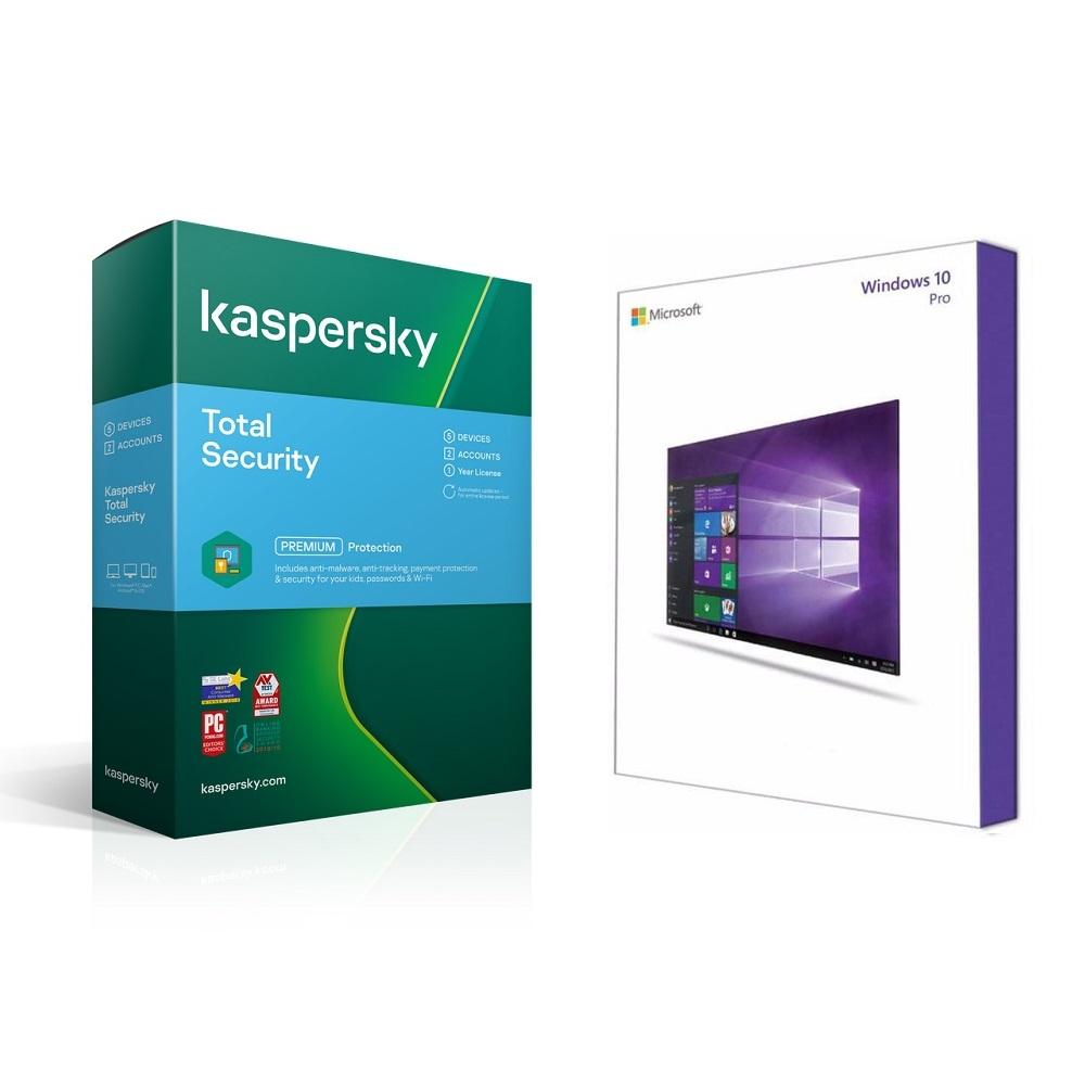 Bundle Microsoft W10 Pro + Kaspersky Total Security 3D 1Yr