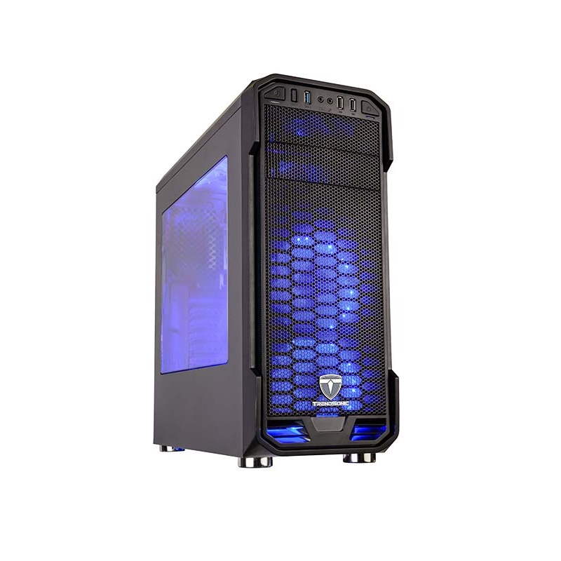 Trendsonic FC-ST06A midi tower case 4x USB Acrylic window