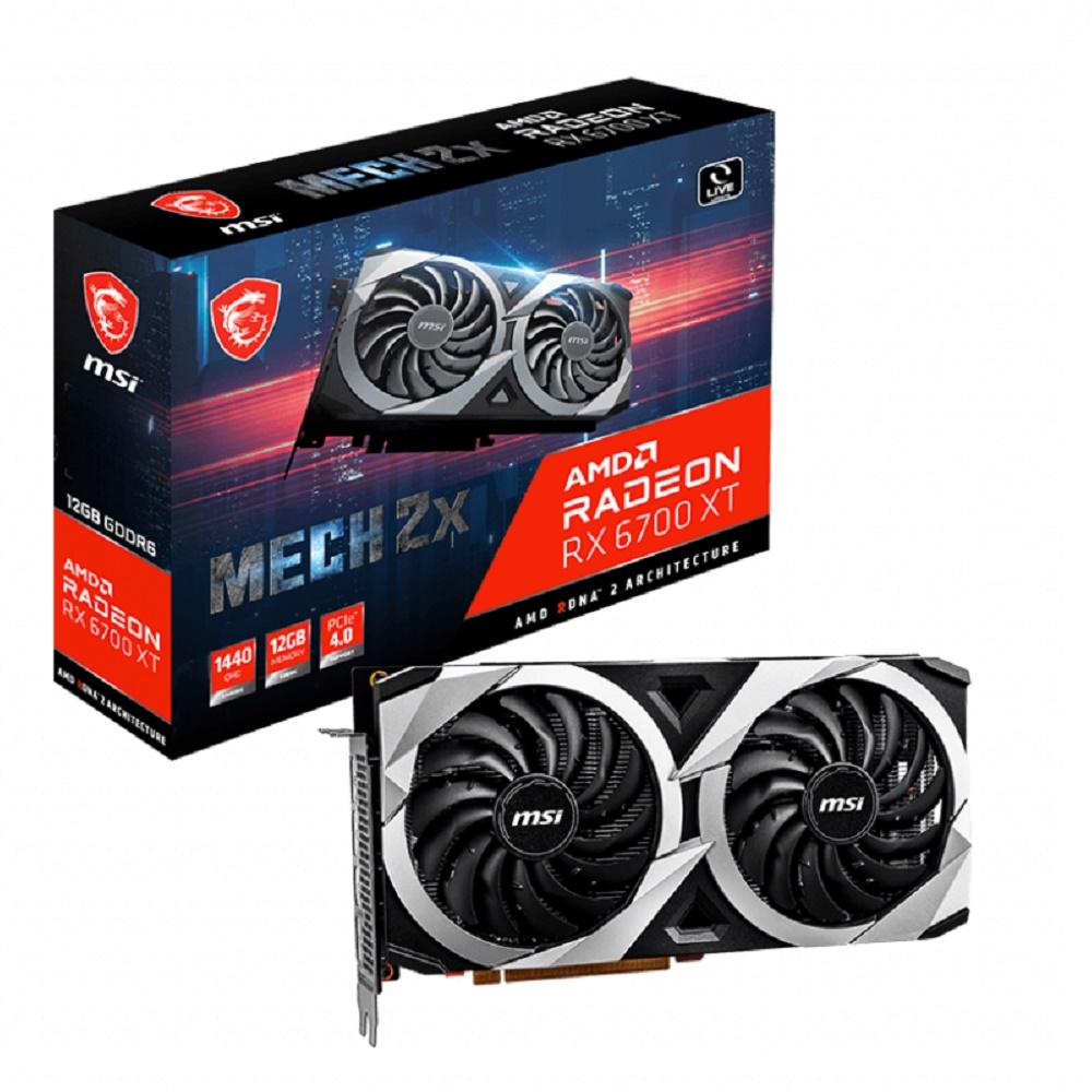 MSI Radeon RX 6700 XT MECH 2X 12G OC RX6700XT video