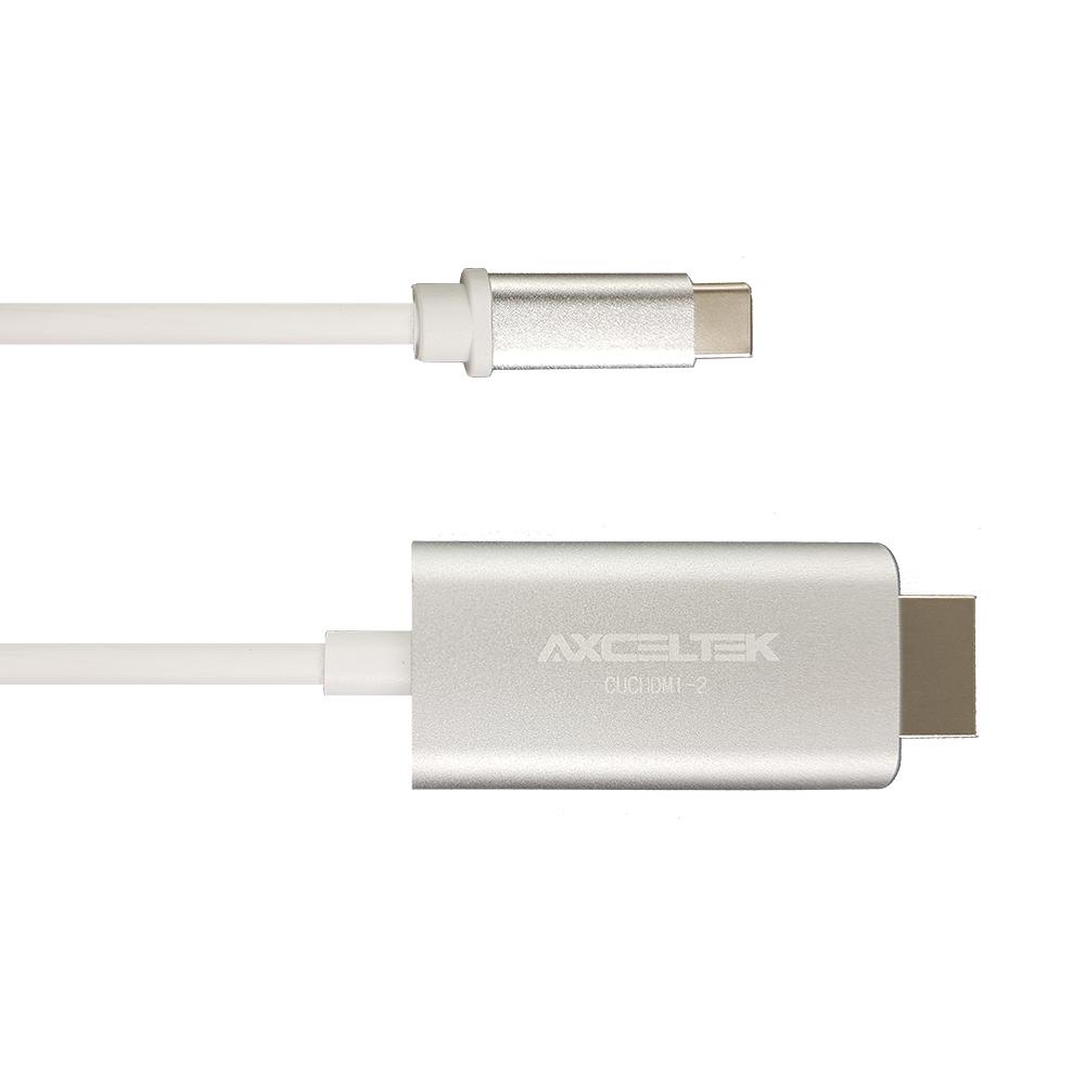Axcelek CUCHDMI-2 USB-C M to HDMI M 2M cable aluminium 4K