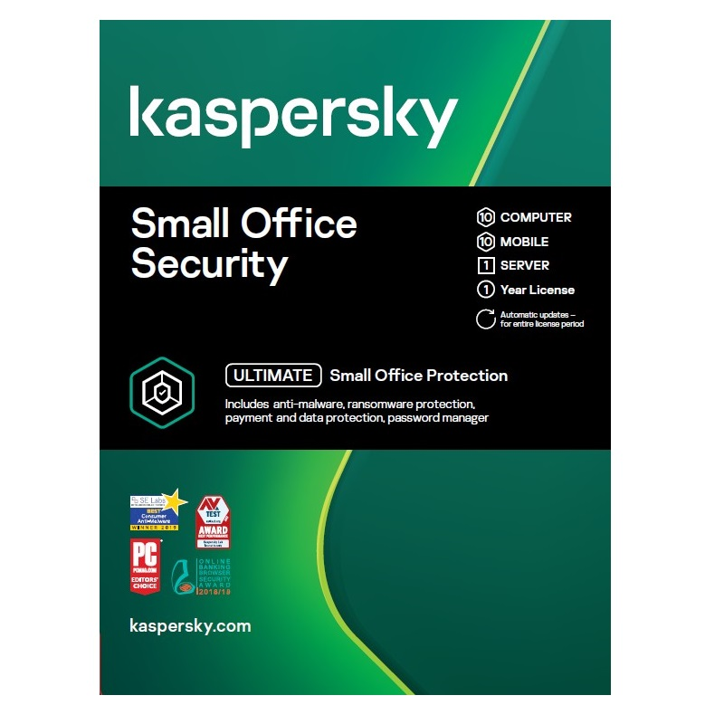 Kaspersky Small Office Security 10 Users 1 year KL4541EOKFS