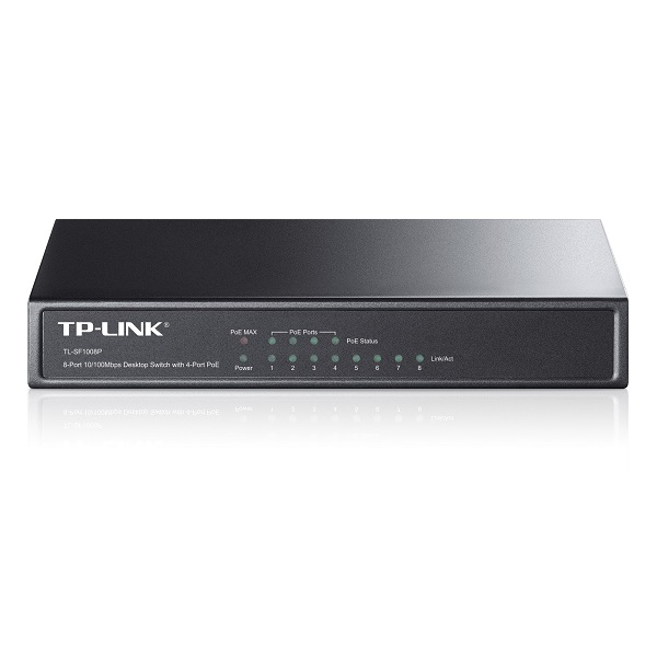 TP-LINK TL-SF1008P 8 port 10/100 switch (4x POE)