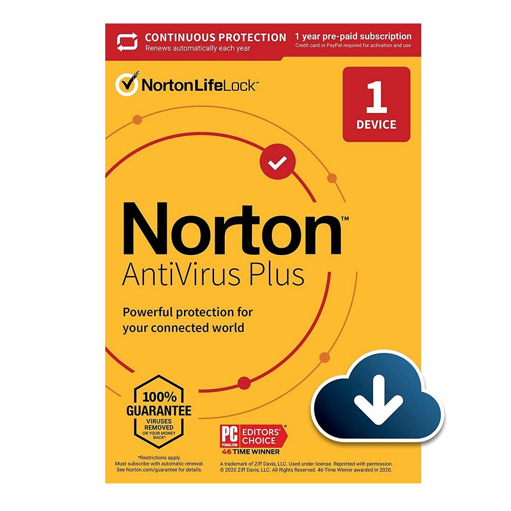 Norton Anti Virus Plus 2021 1 Device 1 Year Email Key