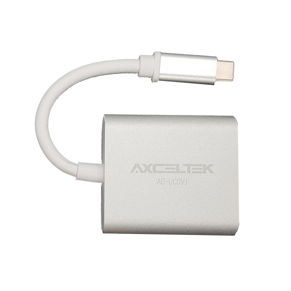 Axceltek AC-UCDVI USB-C M to DVI F 15cm adapter
