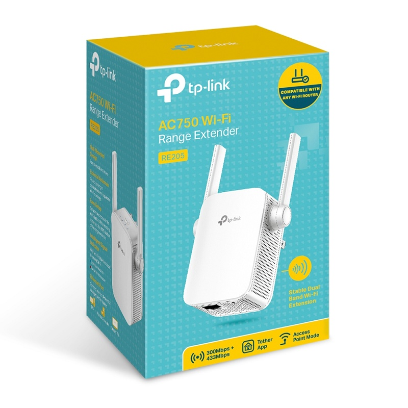 TP-Link RE205 AC750 dual band wifi extender