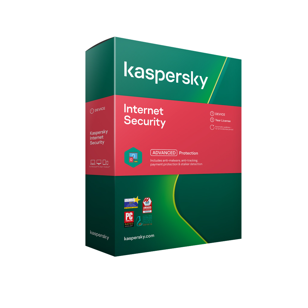 Kaspersky Internet Security 2021 1 device 1 year licence