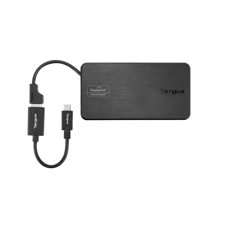 Targus DSU100US USB & USB-C Dual travel dock