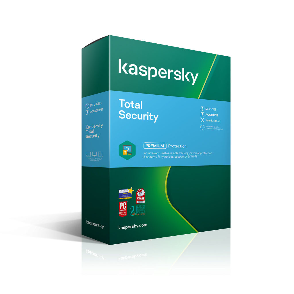 Kaspersky Total Security 2020 3 Device 1 Year Email Key