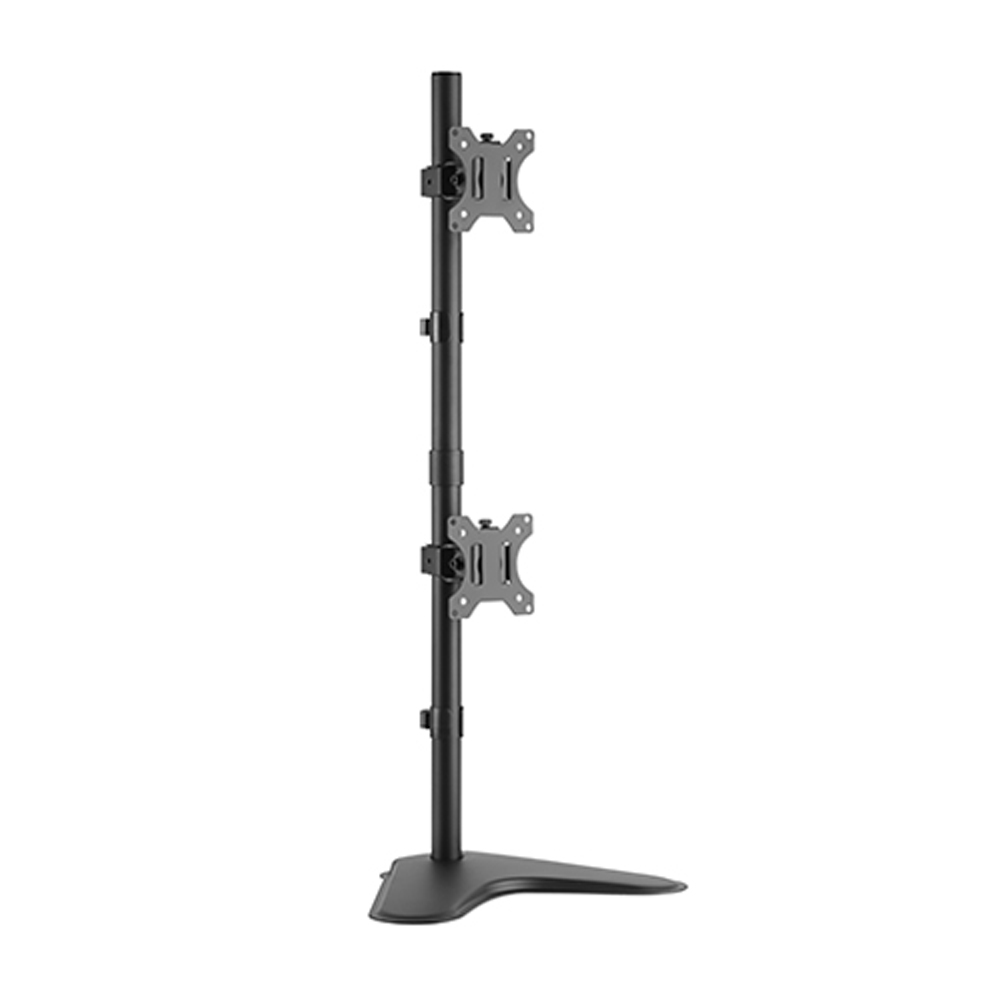 Brateck Dual Free Standing Screens Economical Double Joint Articulating Steel Monitor Stand Fit Most 13'-32'Monitors Up to 8kg per screenVESA 100x100