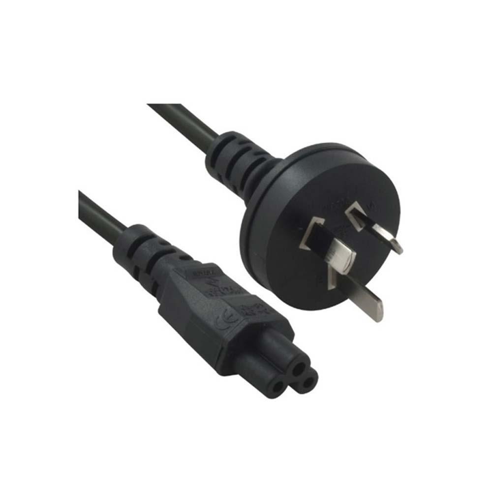 3m 3-Pin AU to ICE 320-C5 Cloverleaf Plug Black Power Cable