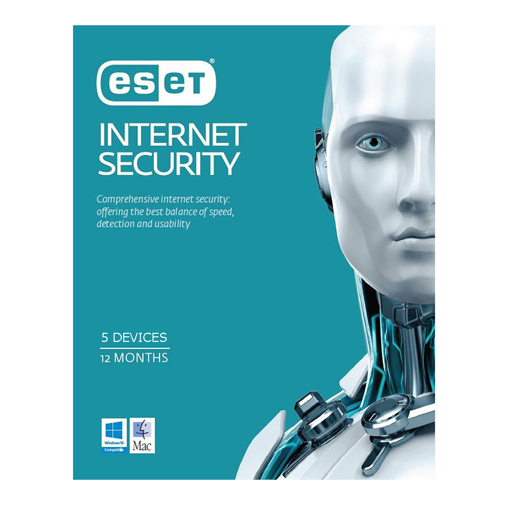 ESET Internet Security 5 Devices 1 year Physical Key Card