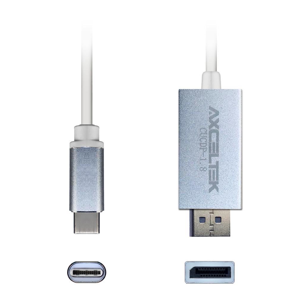 Axceltek CUCDP-1.8 USB-C M to DP M 1.8M cable 4K 60Hz