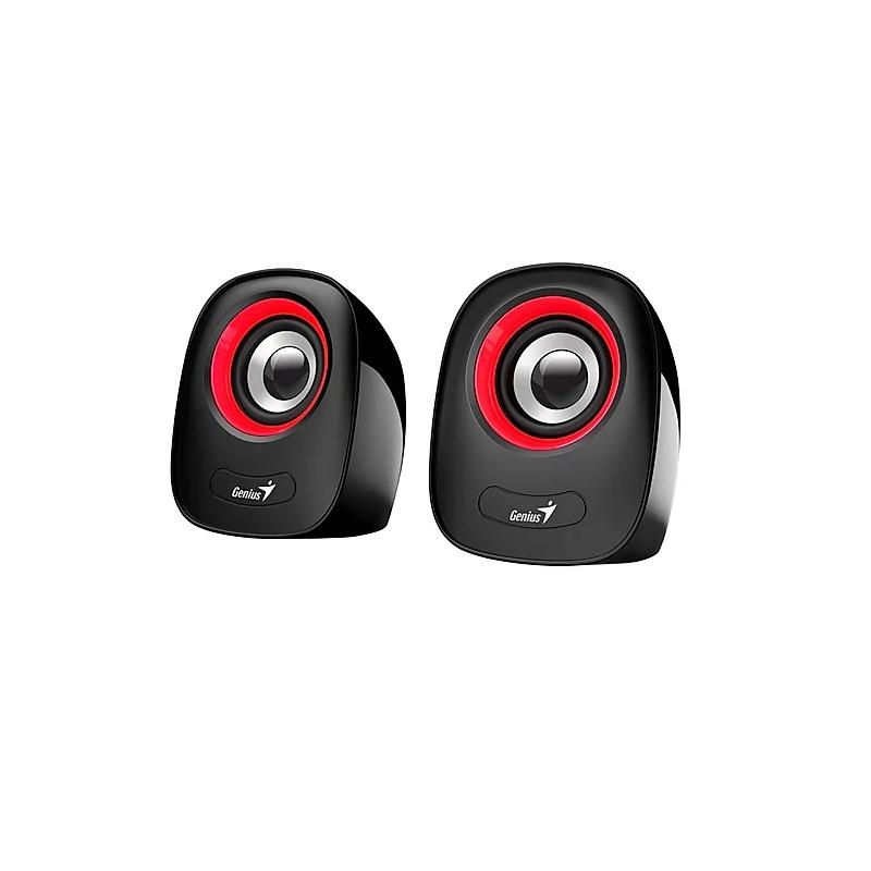 Genius SP-Q160 Red/Black 3.5mm 2.0 USB powered Speaker