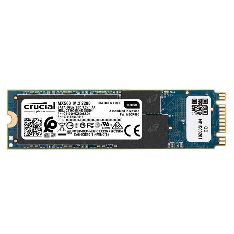 Crucial CT1000MX500SSD4 MX500 1TB M.2 (2280) SSD