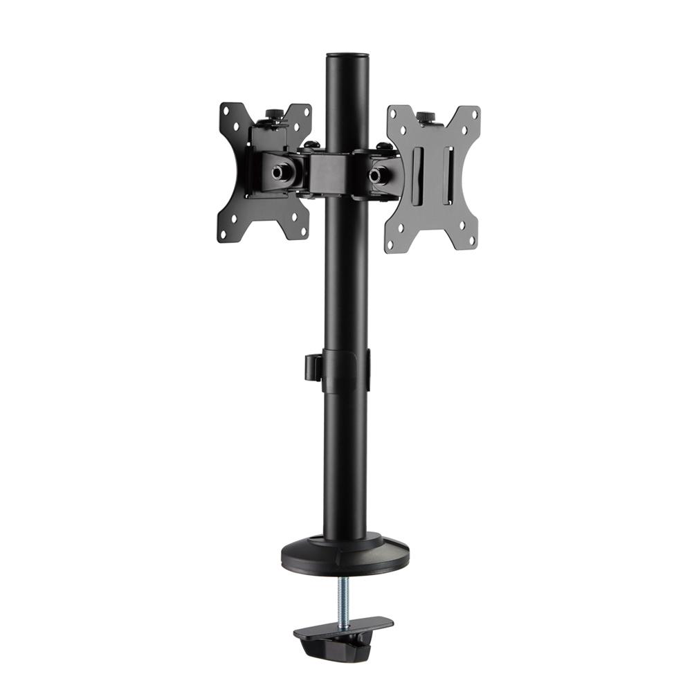 Brateck Articulating Pole Mount Single Dual Monitors Mount Fit Most 17'-32' Monitors Up to 8kg per screen VESA (LS)