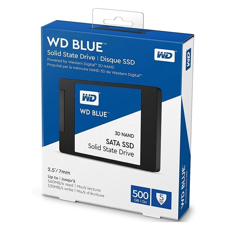 """Western Digital WD 500GB WDS500G2B0A Blue 2.5"""" SATA SSD"""
