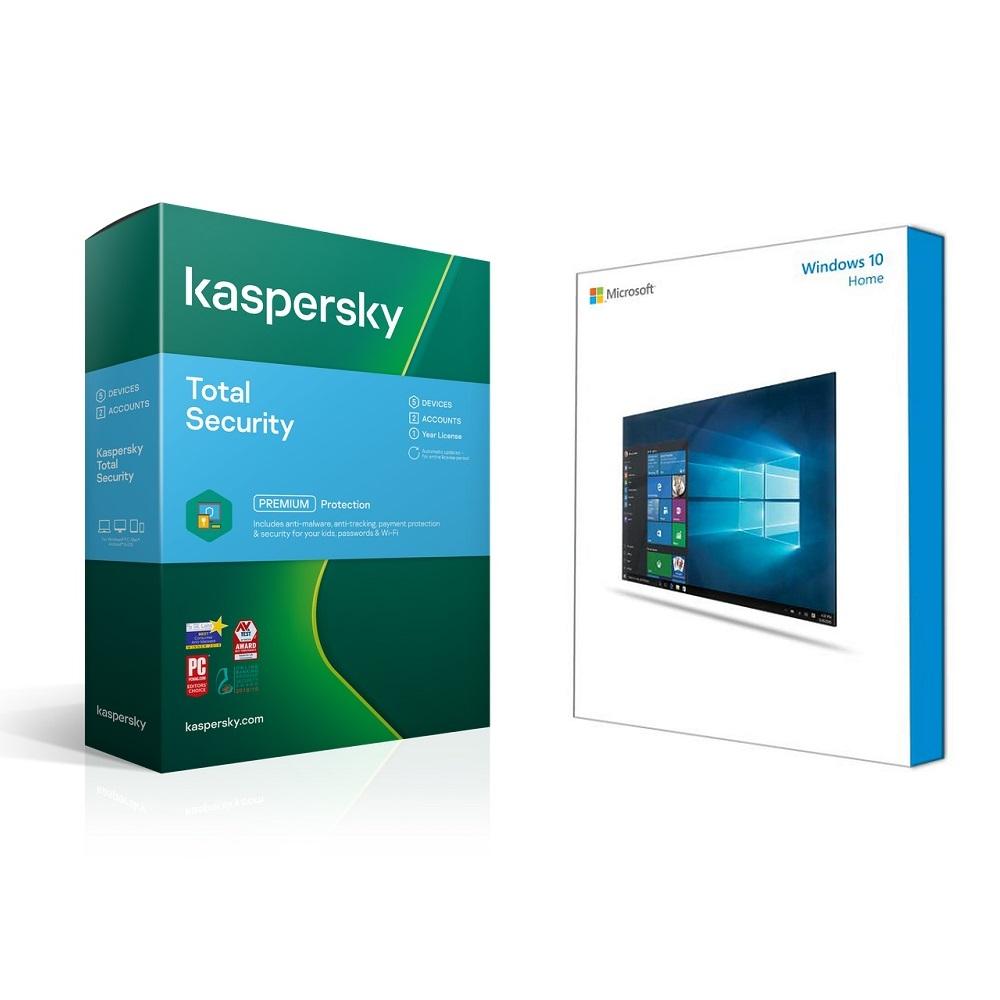 Bundle Microsoft W10 Home + Kaspersky Total Security 3D 1Yr