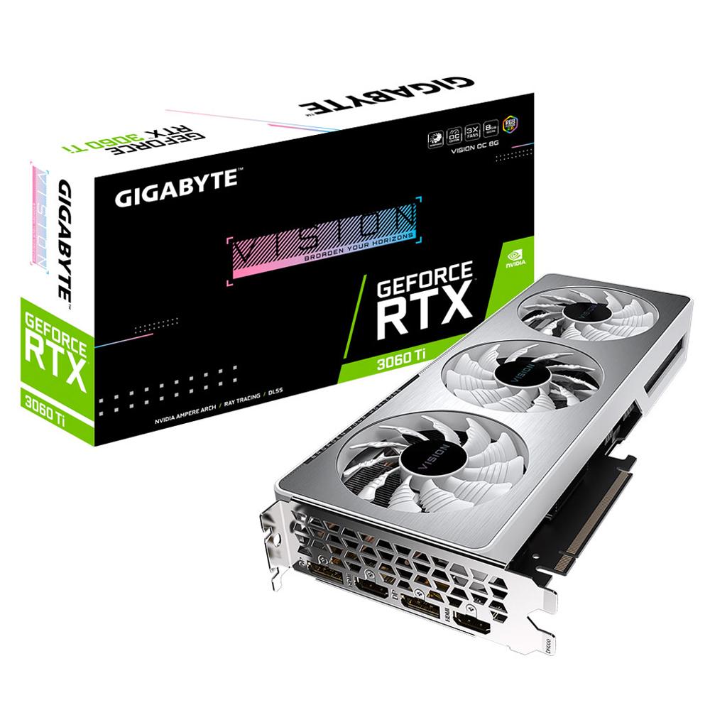 Gigabyte N306TVISION-OC-8GD-V2 RTX3060 Ti LHR 8GB video card