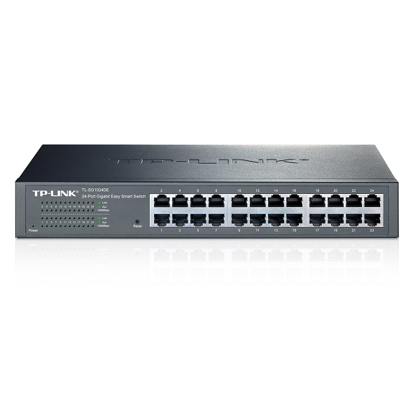TP-LINK 24 PORT SMART DESKTOP AND RACKMOUNT SWITCH GbE(24), 5YR