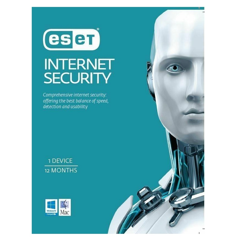 ESET Internet Security 1 Device 1 Year Physical Key Card