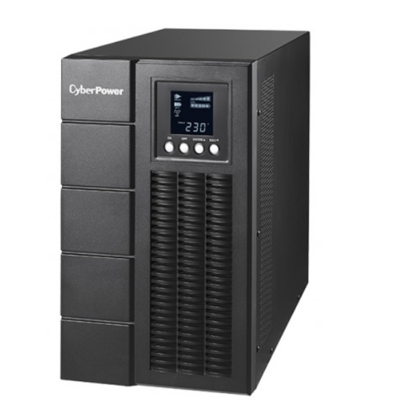 CYBERPOWER Online S 3000VA/2700W Tower UPS - 6* 12V/9AH - (4) IEC C13, (1)IEC C19*1,  Terminal Block - USB & Serial Port & SNMP(OLS3000E)-2 Yrs Adv. Repl