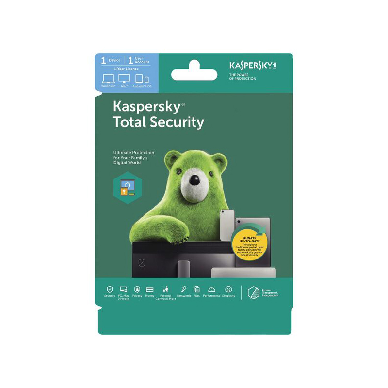Kaspersky Total Security 1 Device 1 Year Multi Device Card