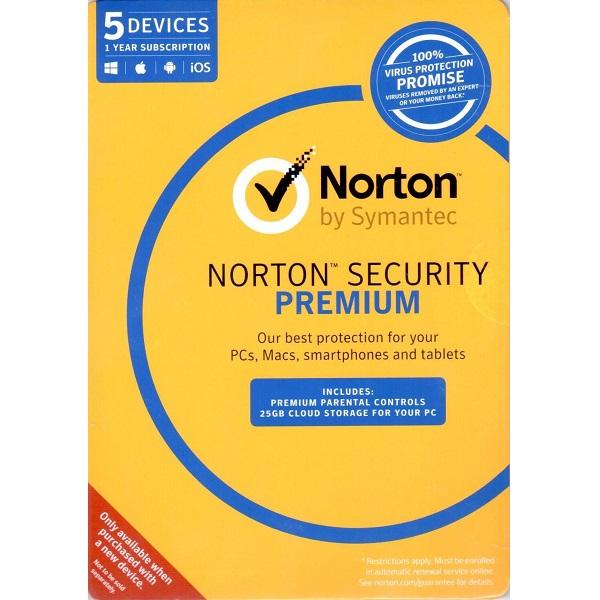 (OEM, 5D, 1YR) NORTON SECURITY PREMIUM
