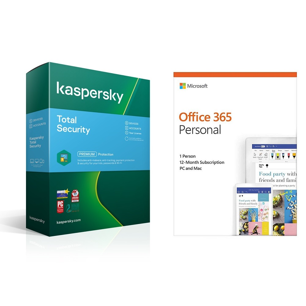 Microsoft Office 365 Personal + Kaspersky Total Sec 1D 1yr