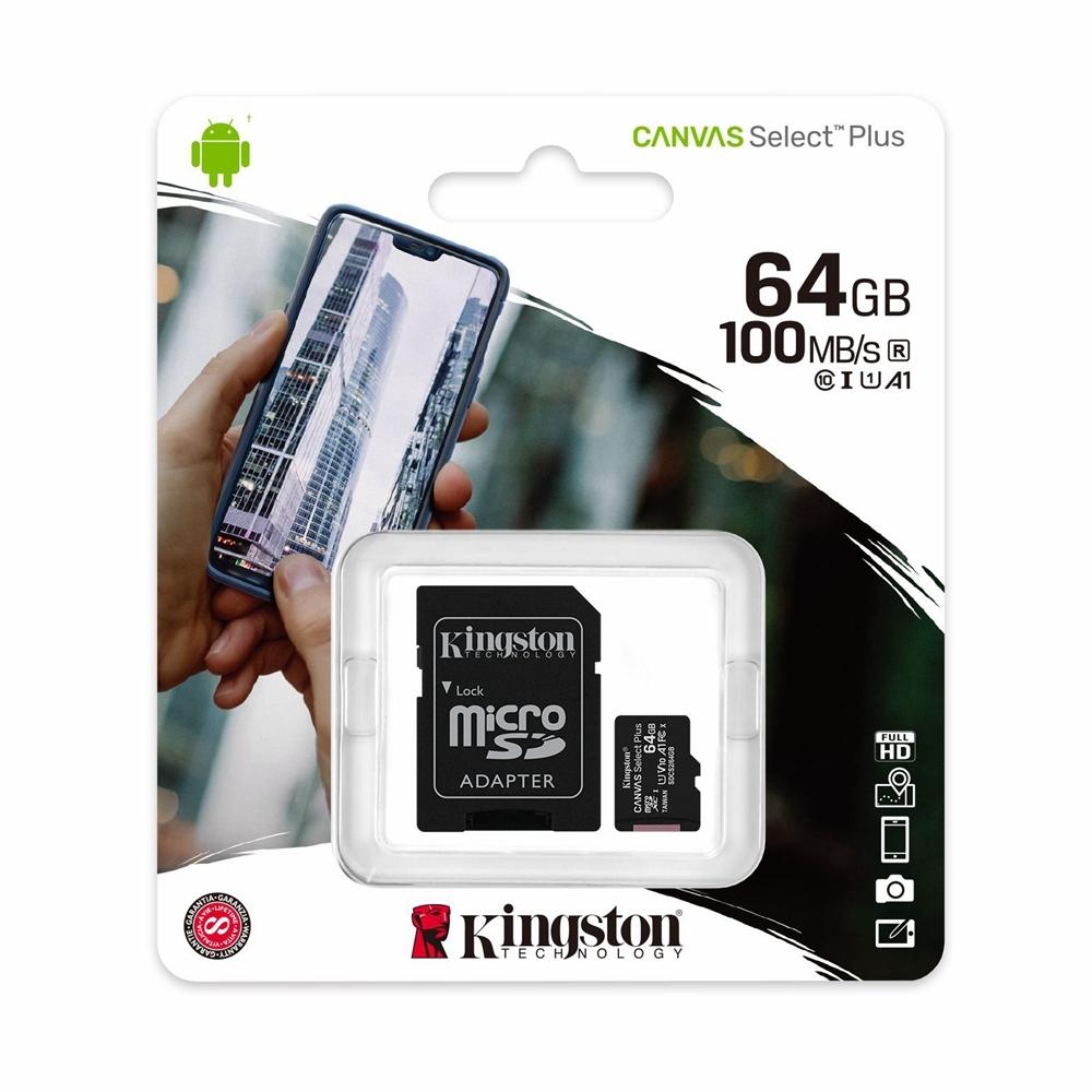 KINGSTON 64GB SDCS2/64GB Micro SD + Adapter