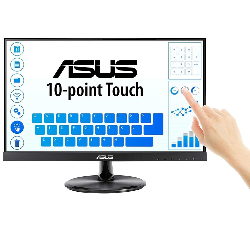 "ASUS VT229H 21.5"", TOUCH FHD 1920x1080, 75HZ, 5MS, HDMI, DVI, D-SUB, SPK, VESA, 3YR"